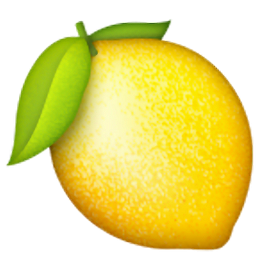 Lemon emoji png. Tumblr sticker by venus