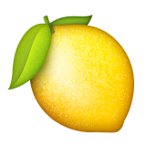 Lemon png emoji. On apple ios