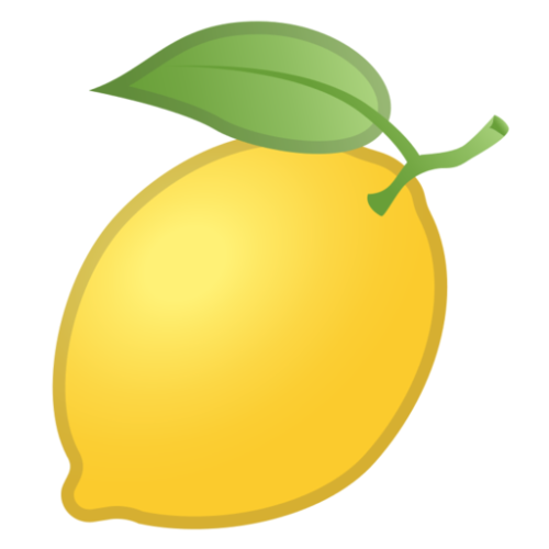 Lemon png emoji. What does
