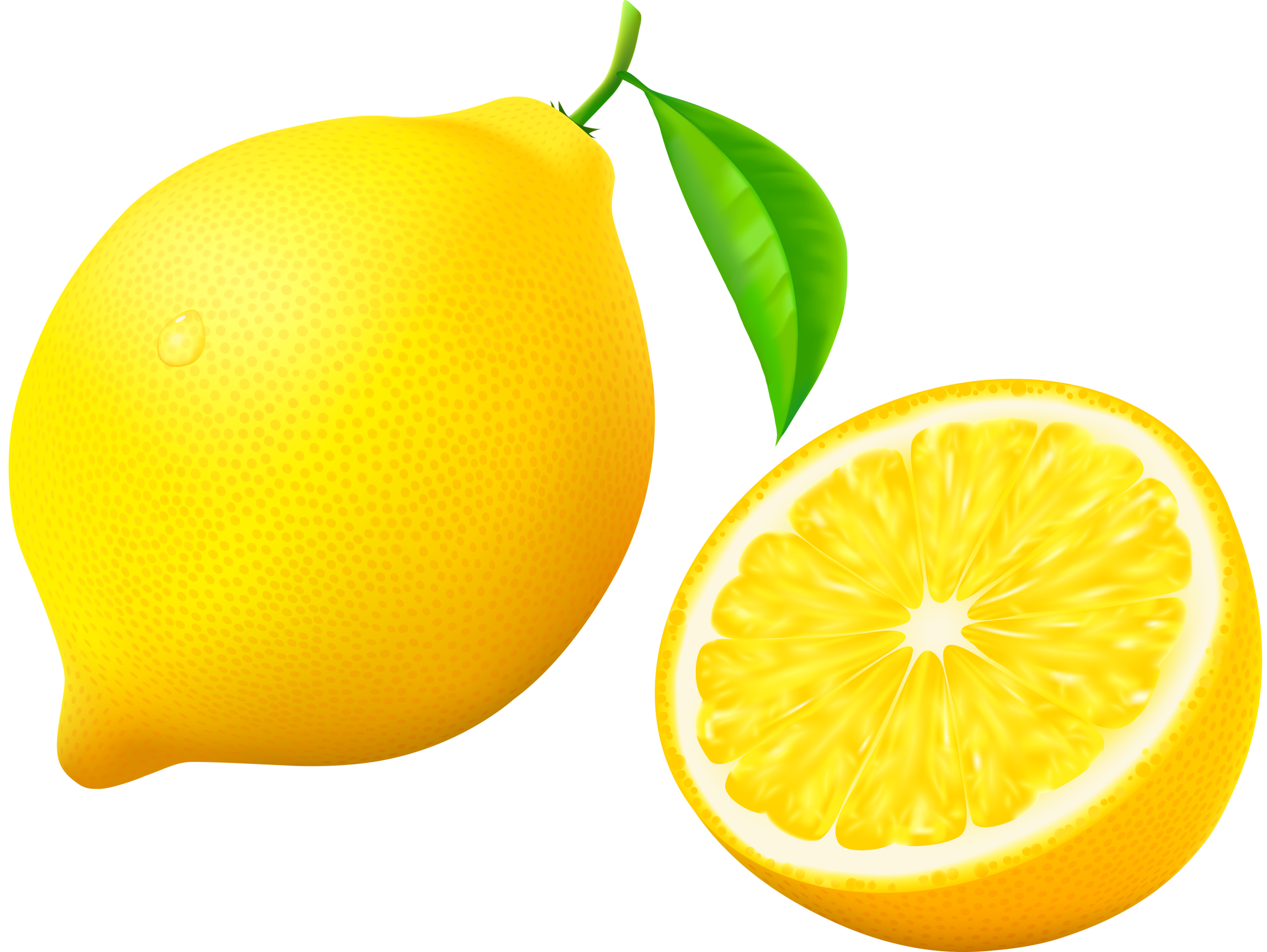 Lemonade clipart lemon soda. With half and flower