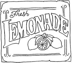 Lemonade clipart lemonade sign. Stand with all kinds
