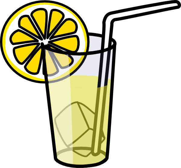Drawing lemon lemonade. Glass of clipart