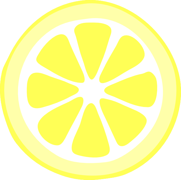 Drawing lemon lemonade. Two tonelemon slice hi