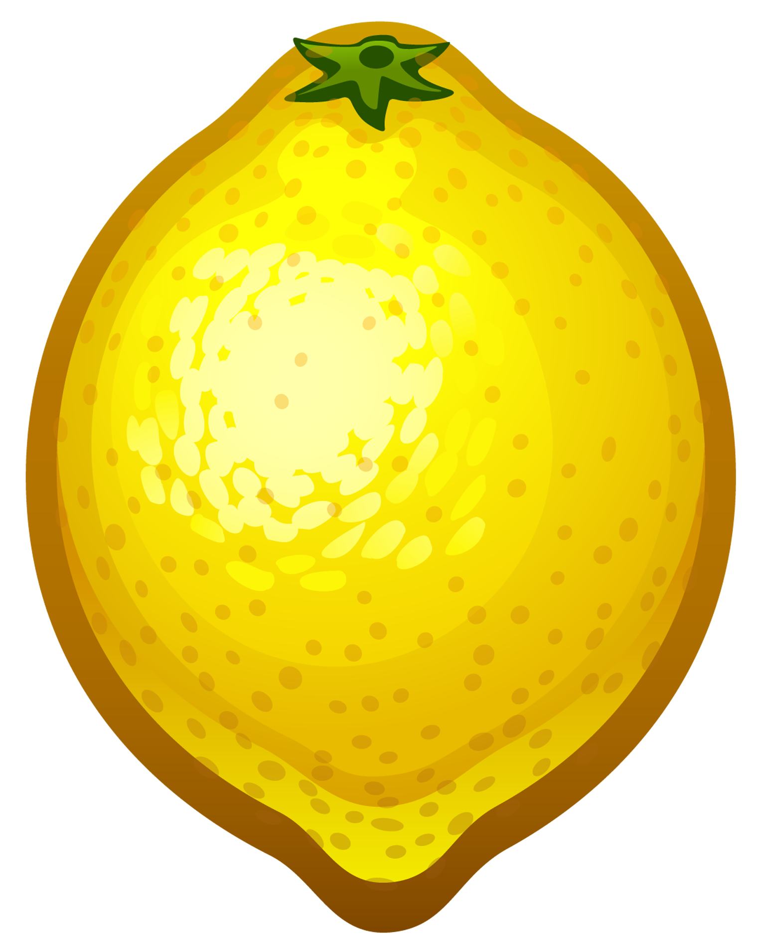 Lemons clipart transparent background. Large painted lemon png