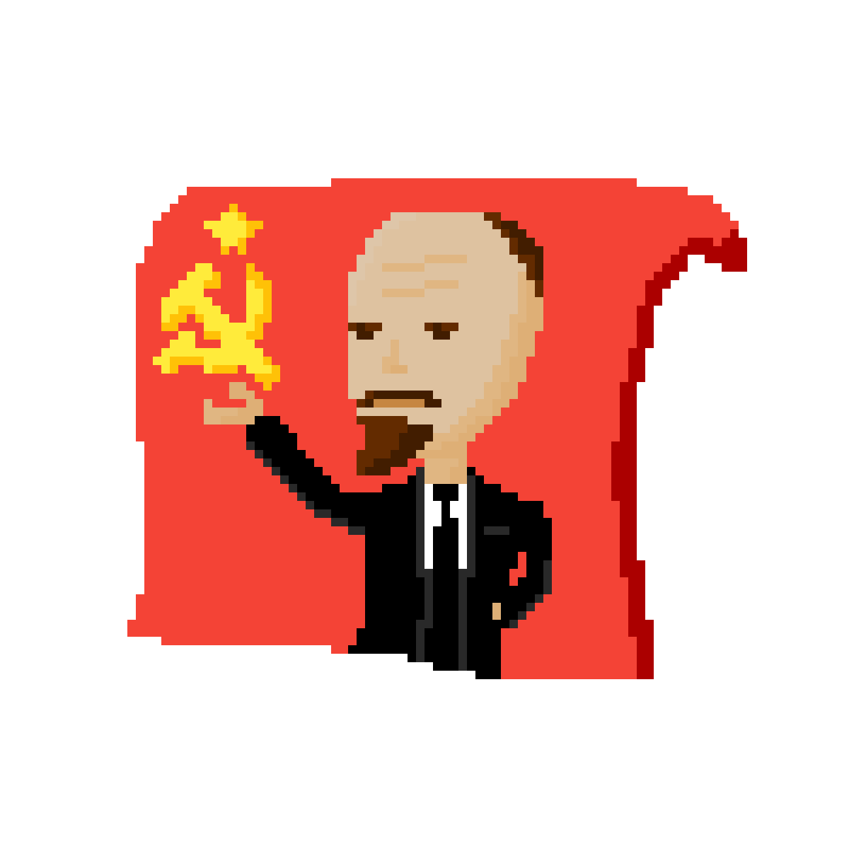 Lenin drawing red. Pixilart icon by fiitz