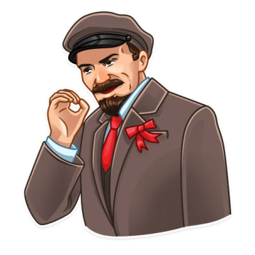 Lenin drawing suit. Png okay