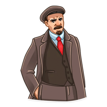 Lenin drawing suit. Png