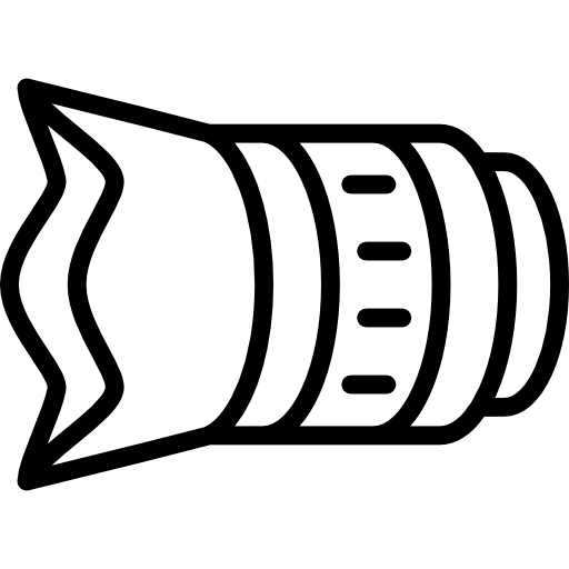 Lens drawing icon. Hood free technology icons