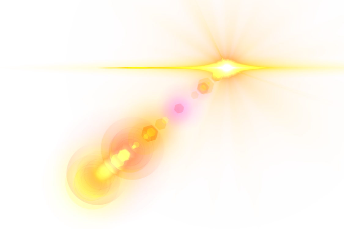 Lens flare png. Yellow