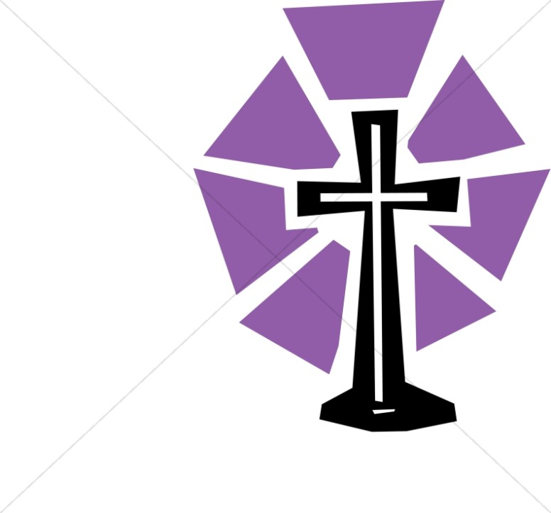 Lent clipart. Cut out cross with