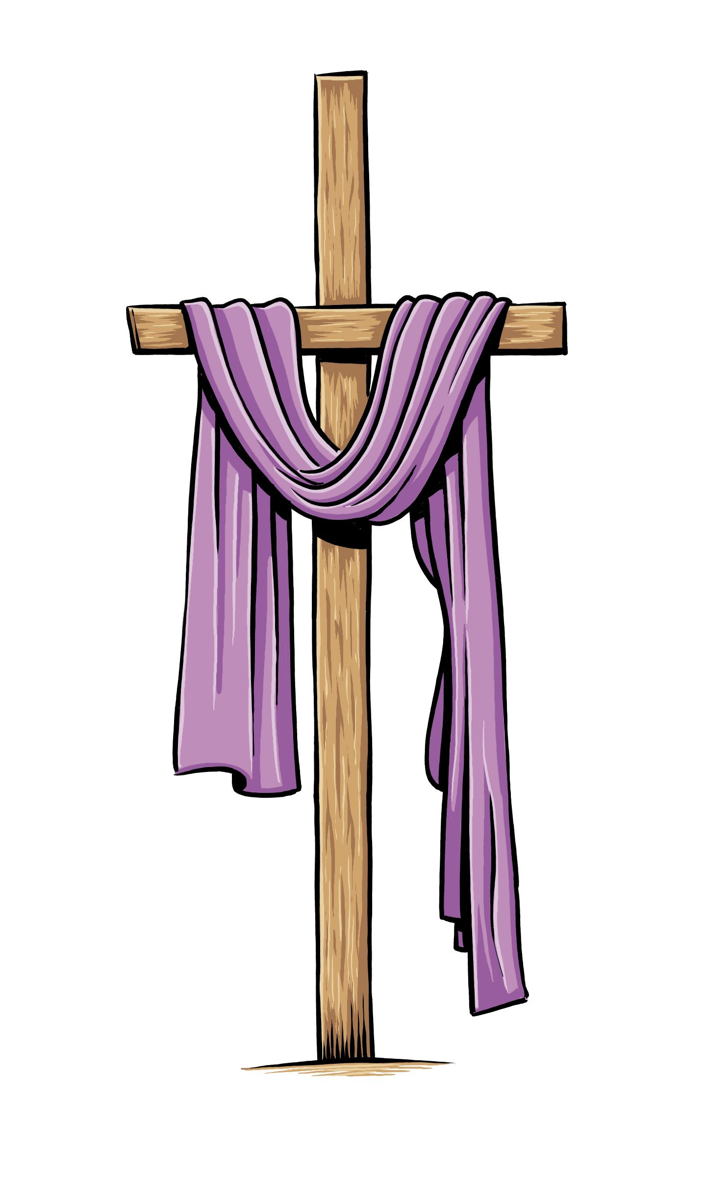 Lent clipart purple easter cross. Color christian pinterest and