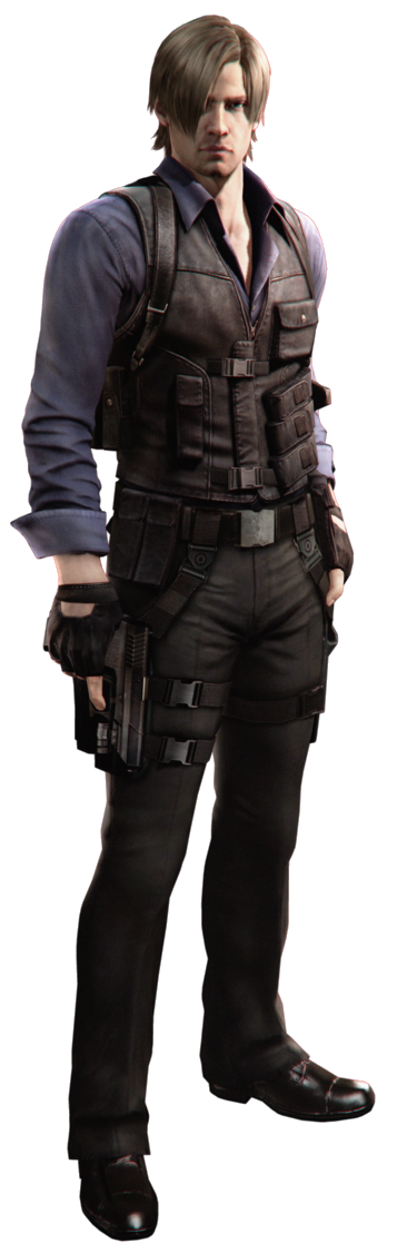 Leon resident evil png. Image s kennedy fictional