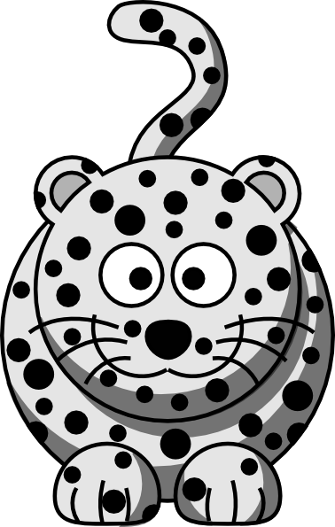 Leopard clipart leopard footprint. Cartoon snow clip art
