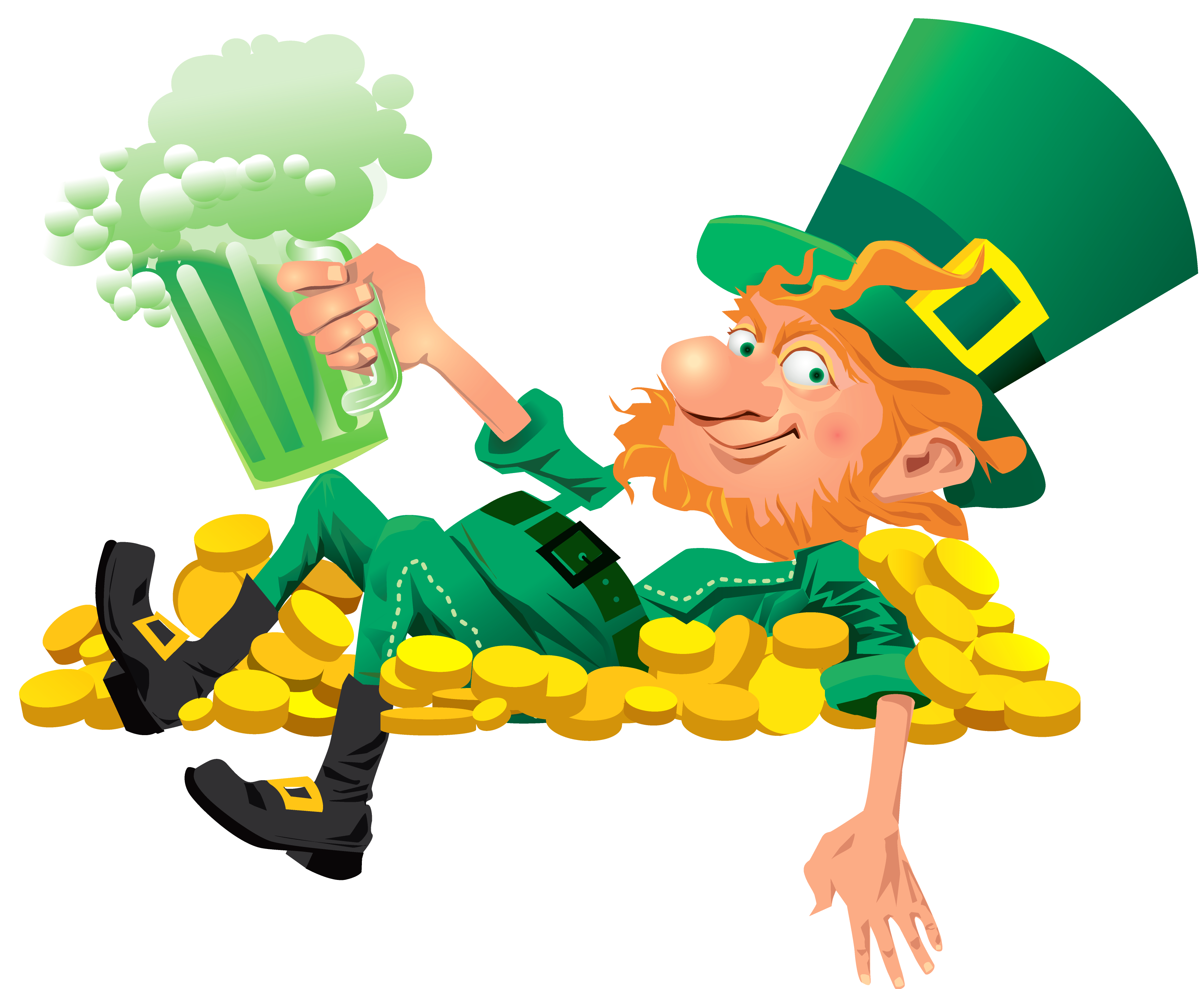 Leprechaun clip art png. With beer clipart gallery