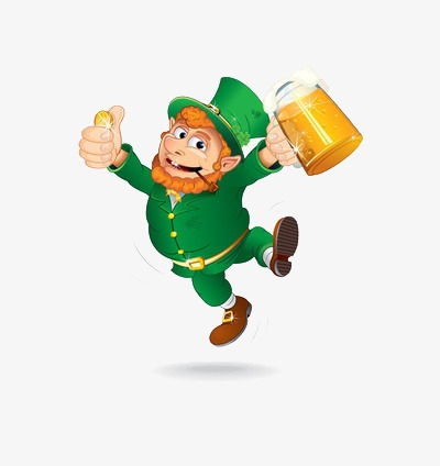 Leprechaun clipart beer png. The man holding glass