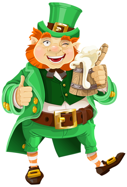 Leprechaun clip art png. St patricks day with
