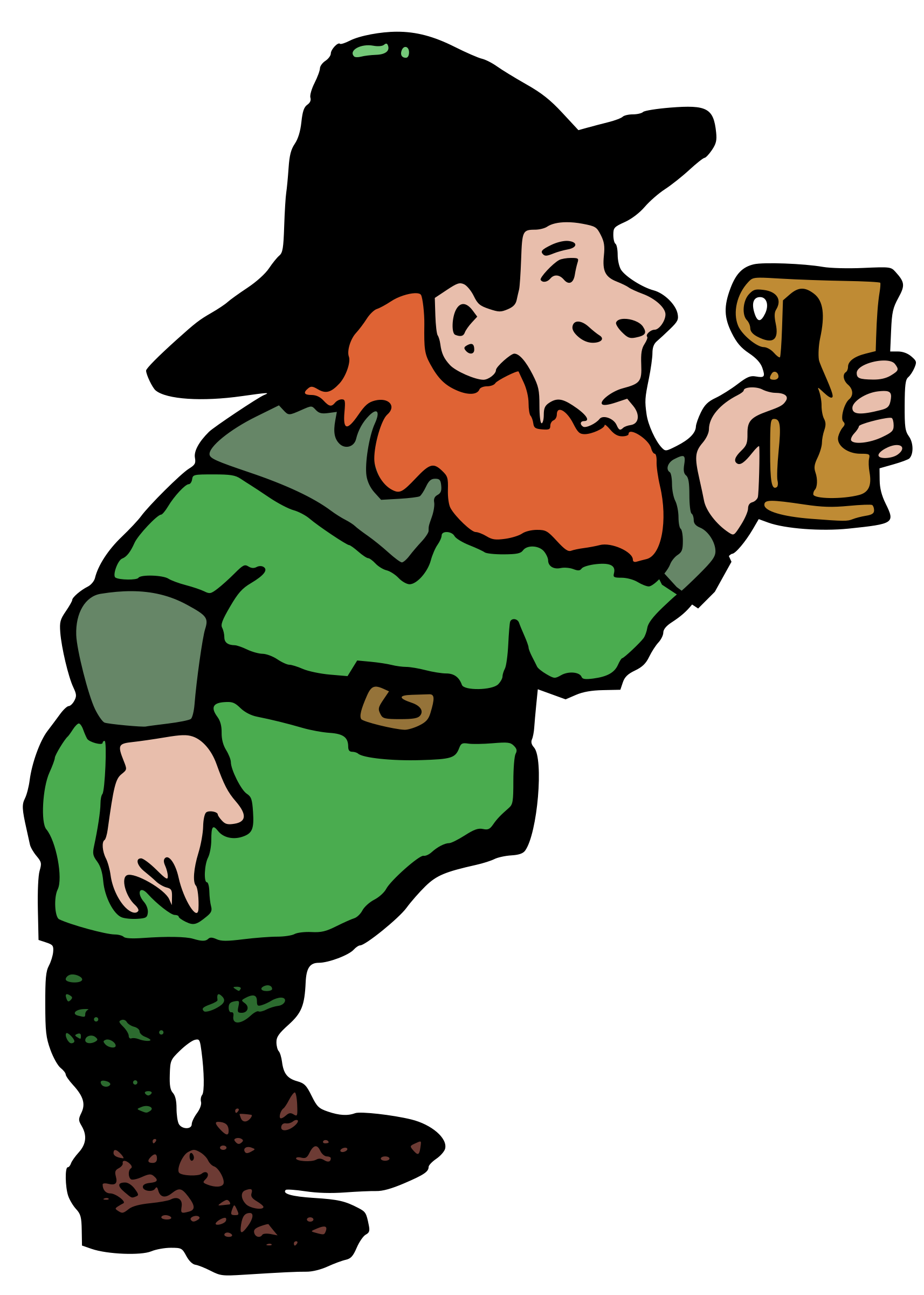 Leprechaun clipart beer png. And big image