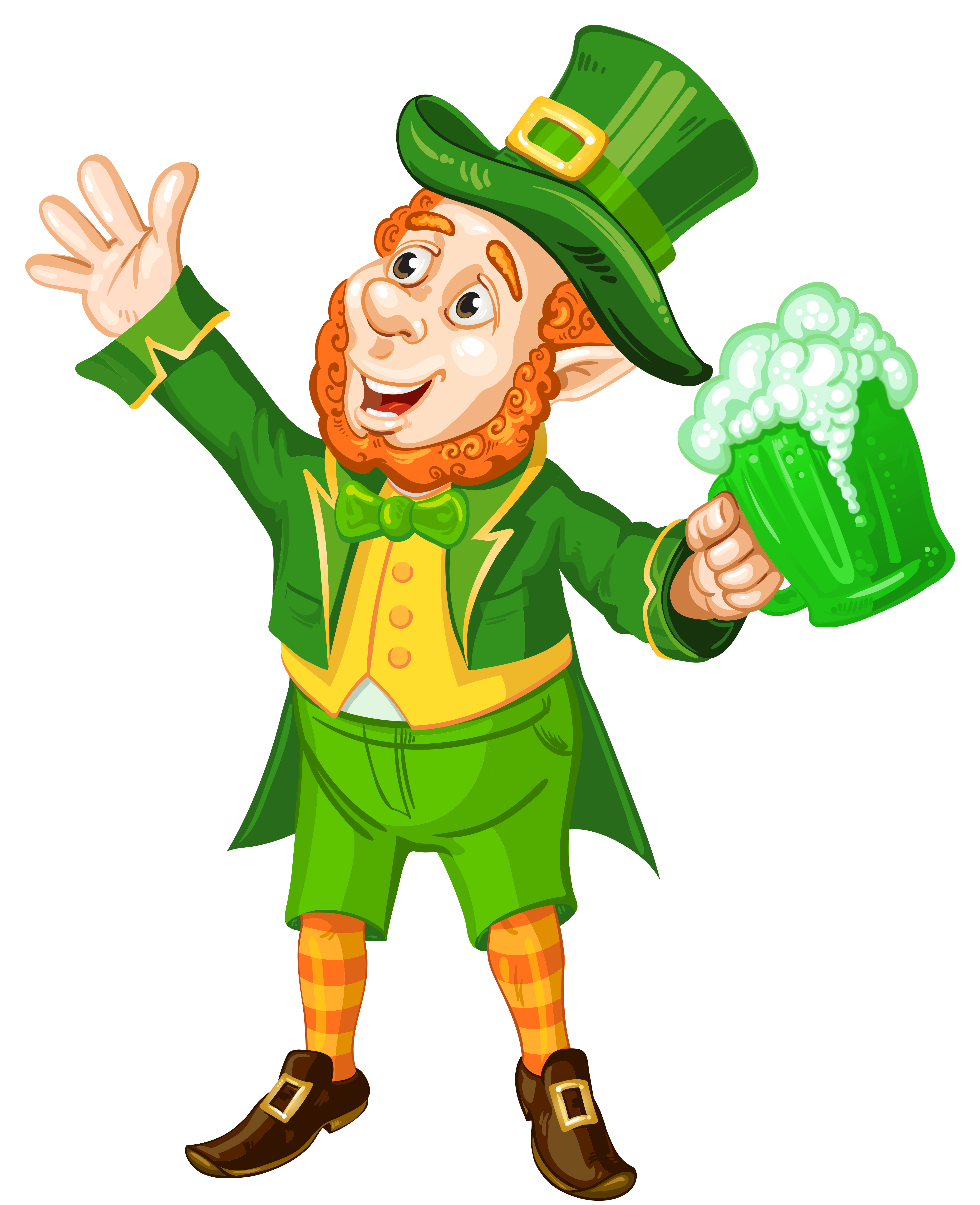Leprechaun clip art png. St patrick day with