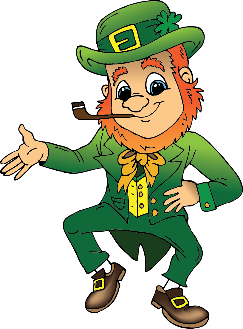 St patricks clipart baby. Free animated leprechaun download