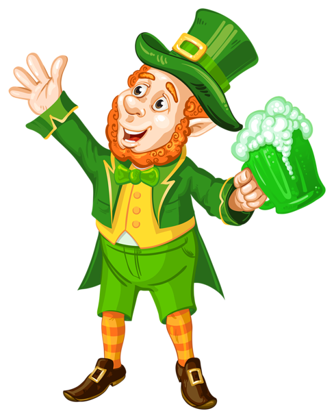 Leprechaun head png. St patrick day with