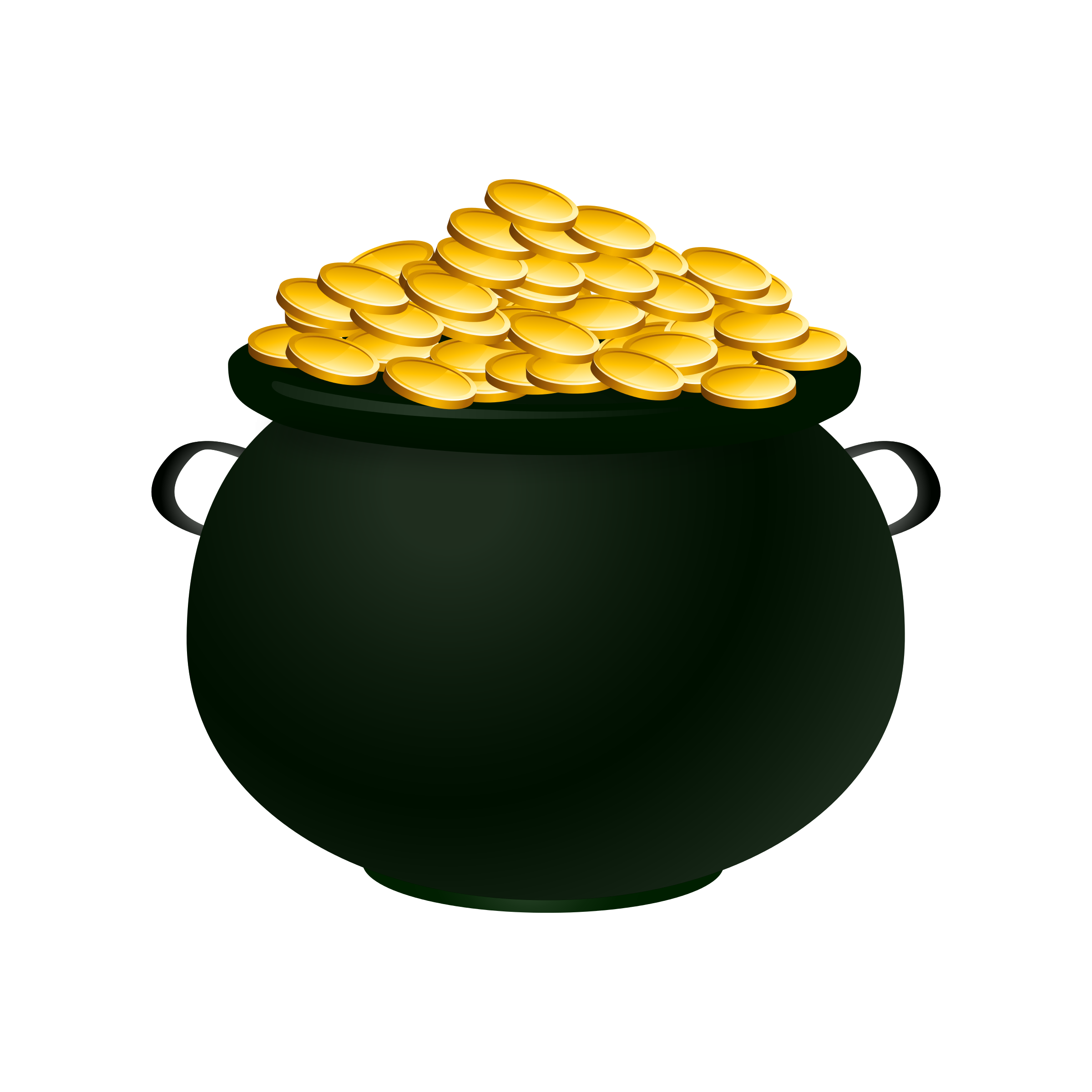 Leprechaun pot of gold png. Free picture a download