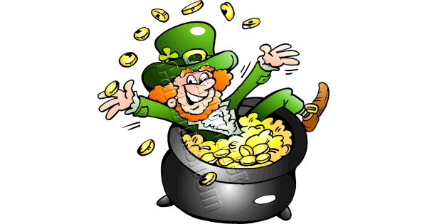Leprechaun pot of gold png. Sitting in