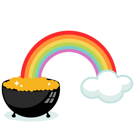 Leprechaun rainbow gold png. Pot of with svg
