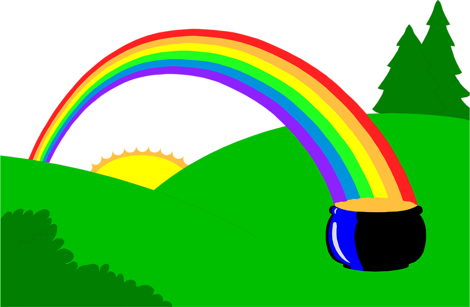 Leprechaun rainbow gold png. Clip art and pot