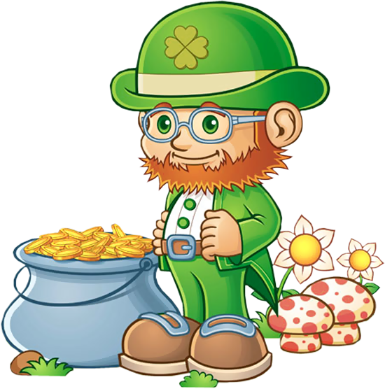 Leprechaun rainbow gold png. With pot of clipart