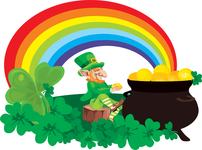Leprechaun rainbow gold png. Kool kwotes there s
