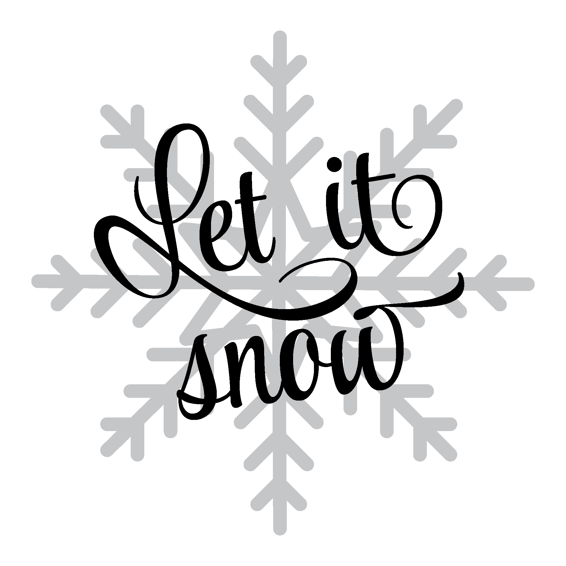 Let it snow png. Snowflake wall quotes decal