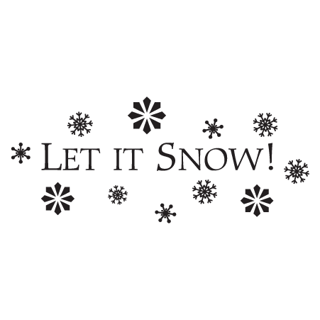 Let it snow png. Classic wall quotes decal