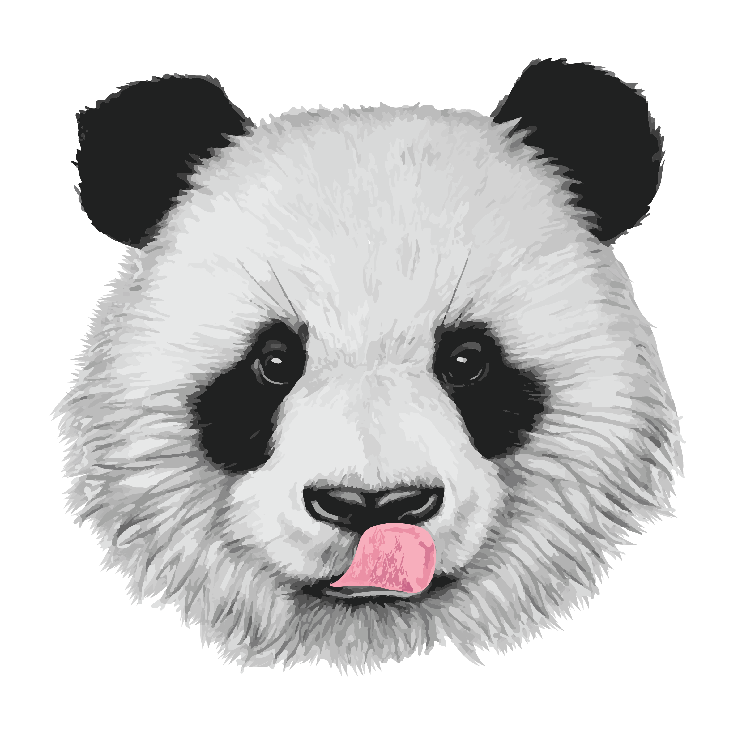 Lethalchris drawing. Panda bear by on
