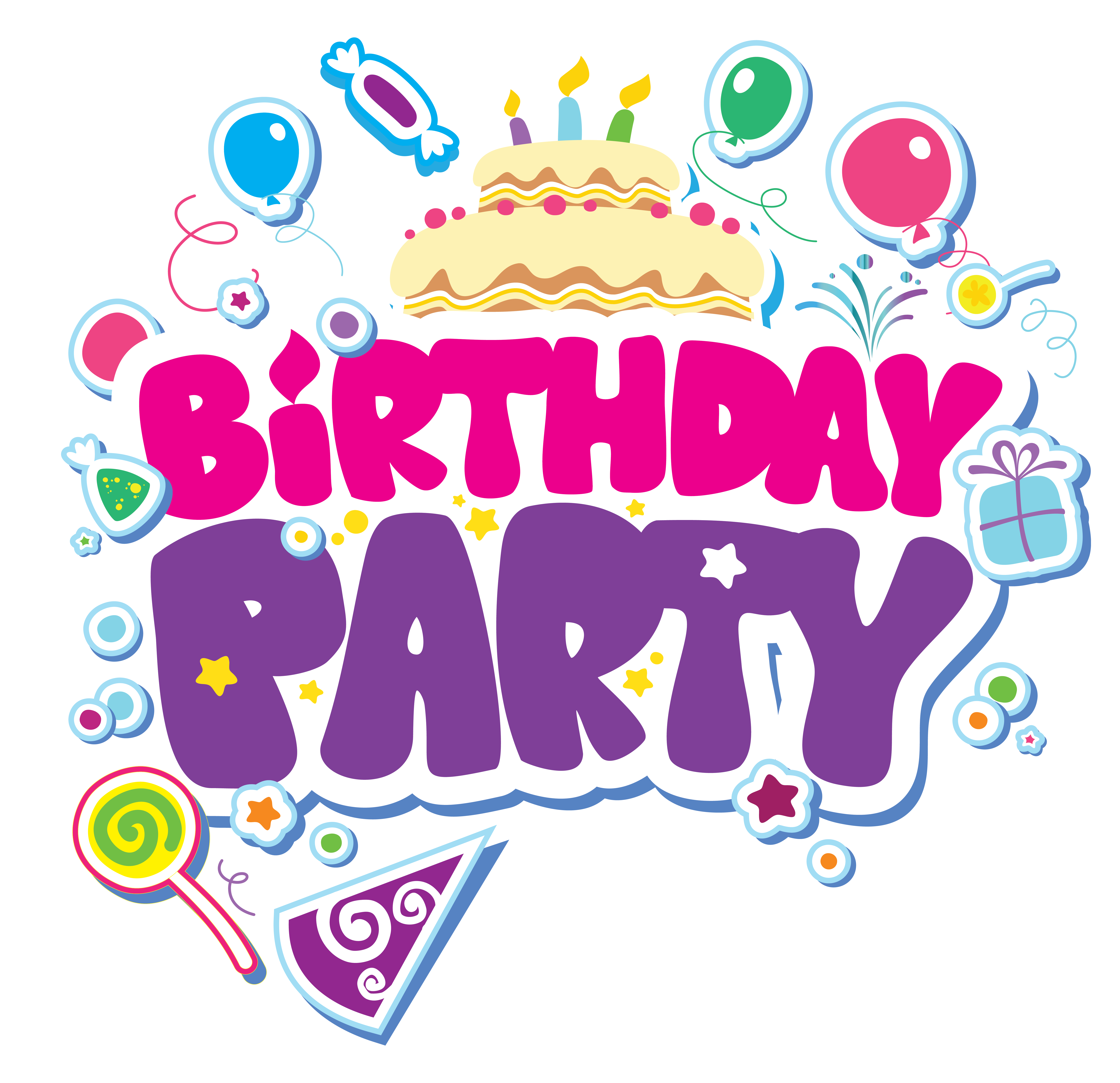 Transparent decoration birthday. Le ts party lessons