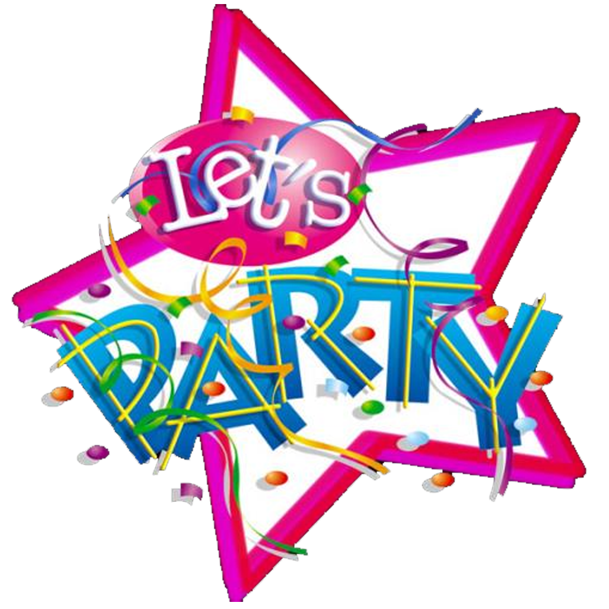 Lets party png. Children s birthday clip