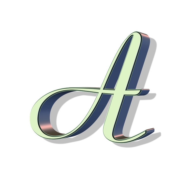 Vector mirror fancy. Letter a png pic
