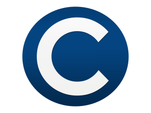 Letter c logo png. Blue white free to