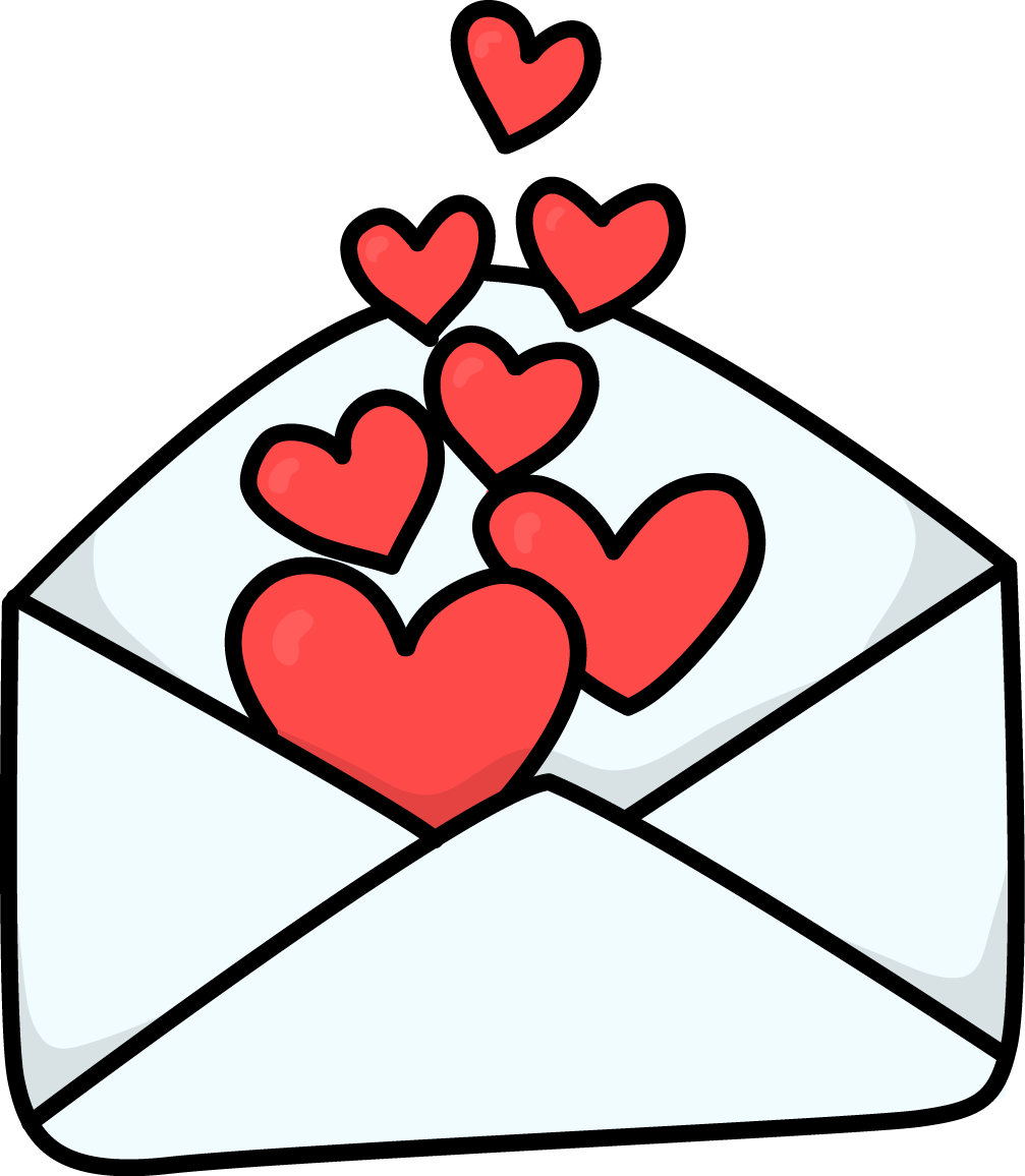 Valentine clipart message. Free love letter cliparts