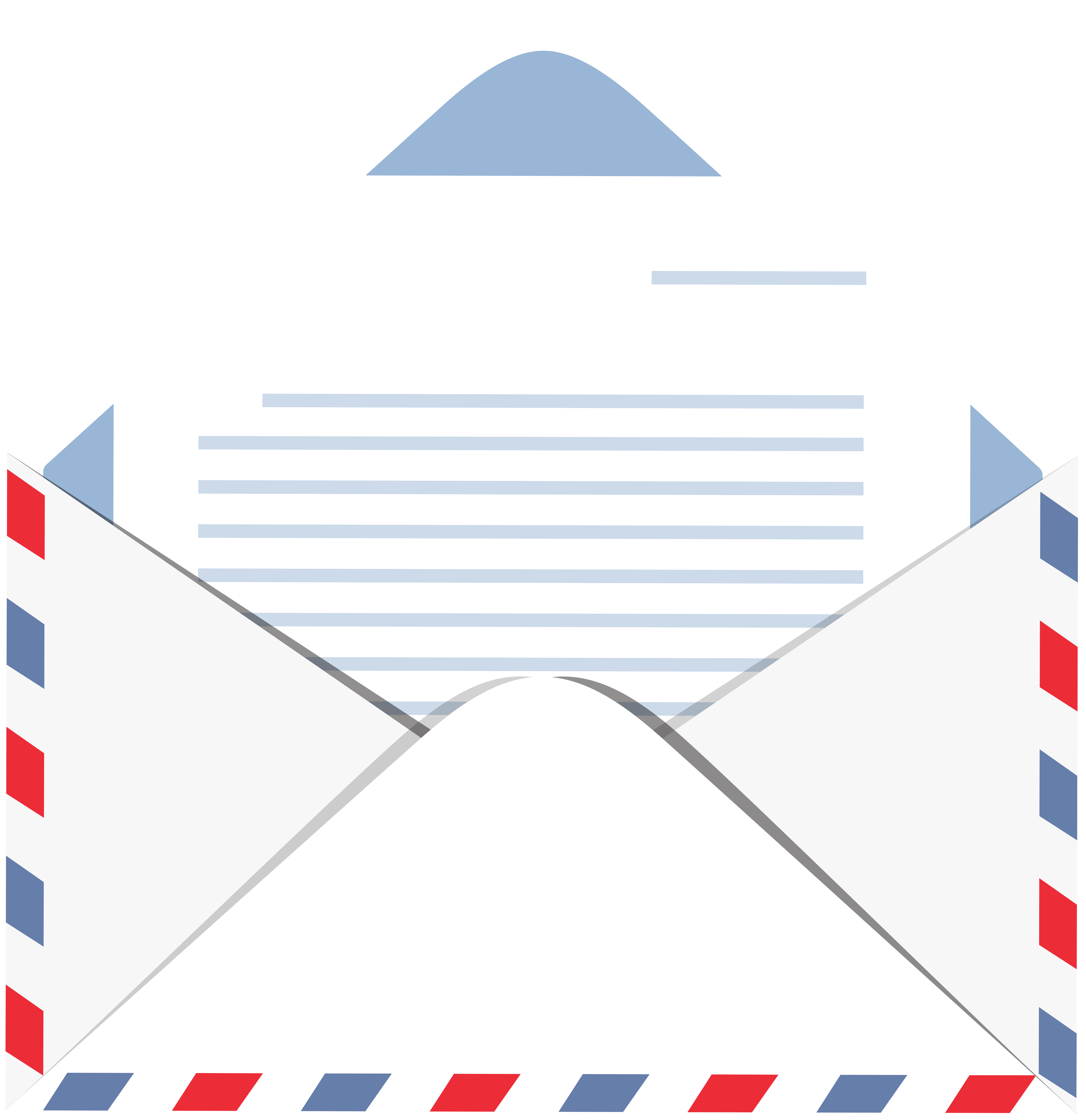 Letter clipart. Envelope with transparent png