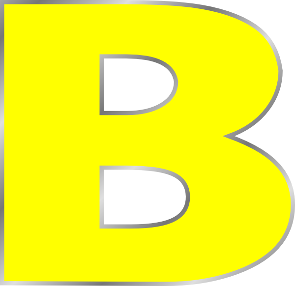 Vector b letter. Free clipart download clip
