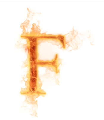 Letter f fire png. Ediction burning letters have