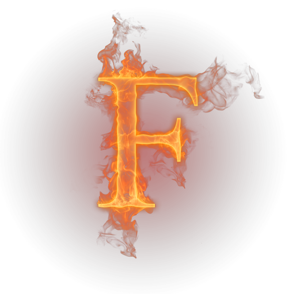 Letter f fire png. Flame english alphabet transprent