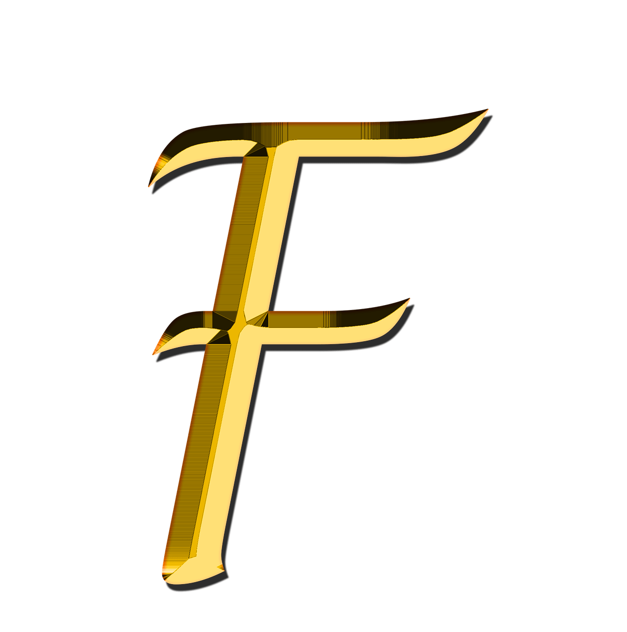 Letter f png. Capital transparent stickpng
