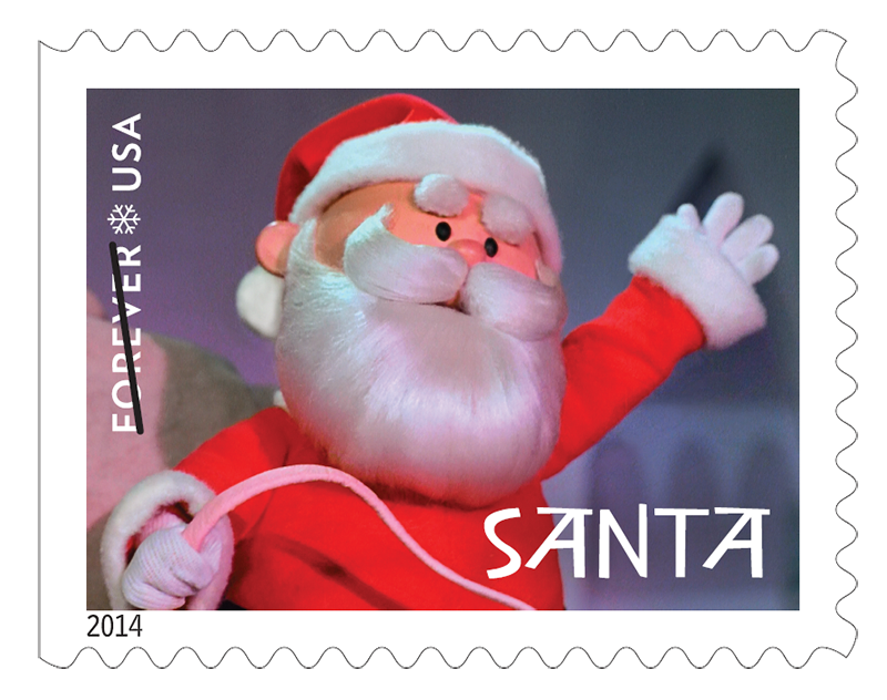 Santa stamp png. Get a letter from