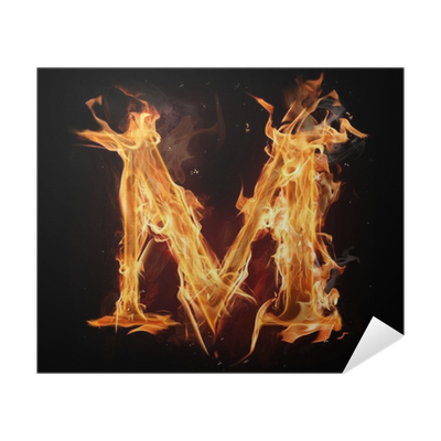 Letter m fire png. Alphabet poster pixers we