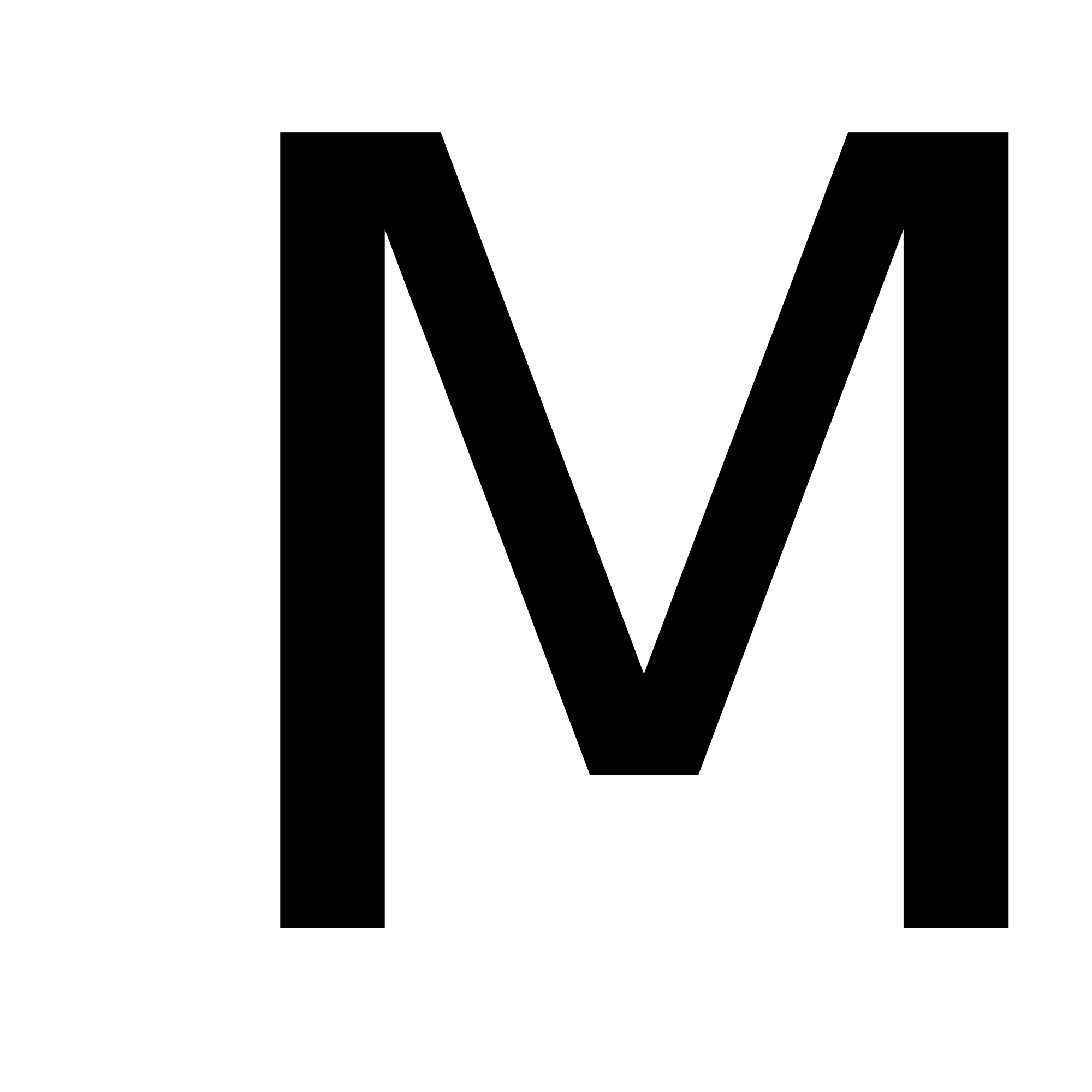 White letter m png