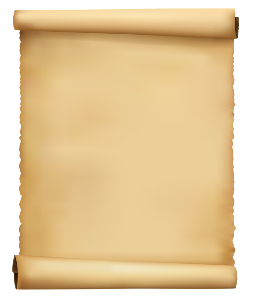 Old note paper png. Scrolled ancient clipart image
