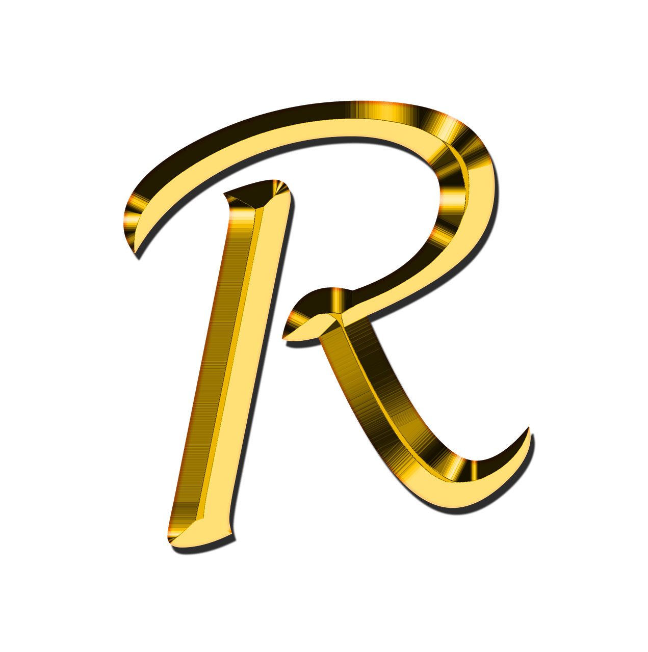Letter png. Capital r transparent stickpng