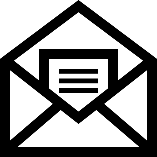 Letter png icon. Mail open symbol of