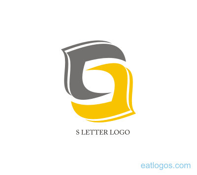 Letter s logo png. Design yellow download vector